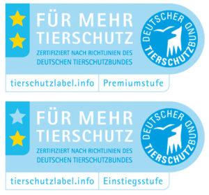 """Tierschutzlabel """"Für Mehr Tierschutz"""""""