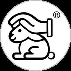 Logo des Deutschen Tierschutzbundes: Hase mit schützender Hand