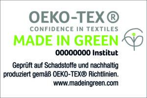 Logo OEKO-TEX Made in Green