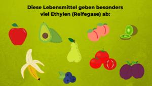 Diese Lebensmittel geben besonders viel Ethylen (Reifegase) ab