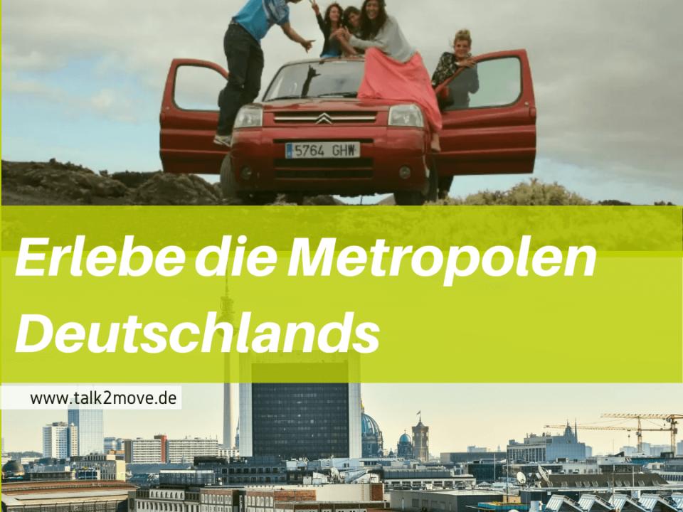 talk2move Blog - Erlebe die Metropolen Deutschlands - Reisetour