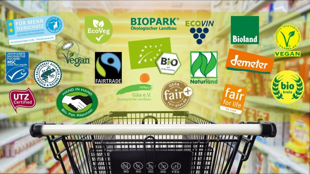 Die wichtigsten nachhaltigen Gütesiegel für Lebensmittel