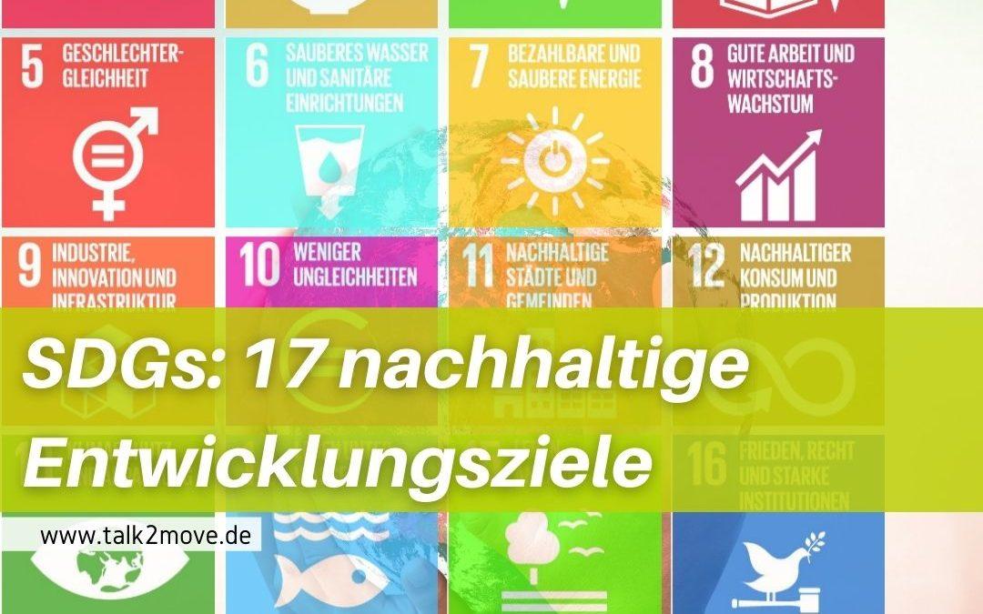 talk2move Blog: SGDs - 17 nachhaltige Entwicklugsziele